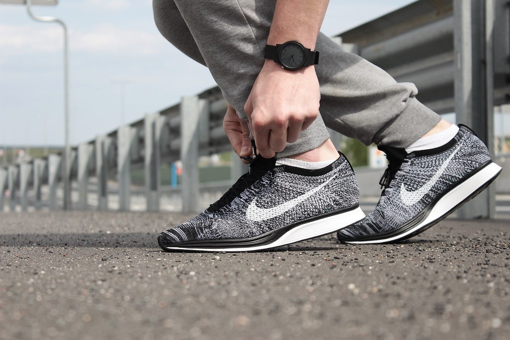 quality design 4a1c8 074c8 ... Nike Flyknit Racer Black White  OREO 2.0    by  wookash