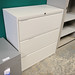 White wide 3 drawer filing cabinet