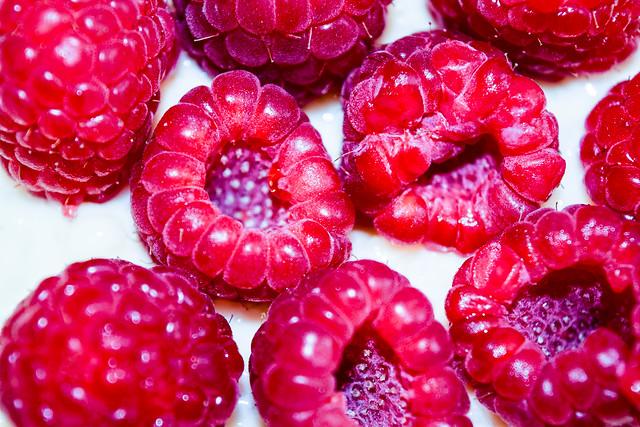 rice and raspberries