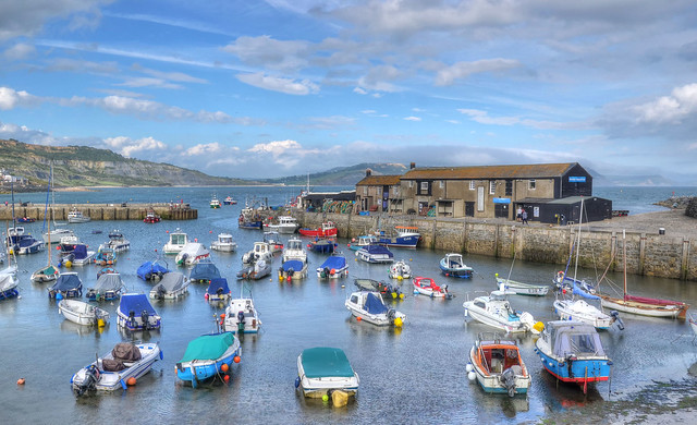 The Cobb harbour at Lyme Regis, Dorset (Explored)