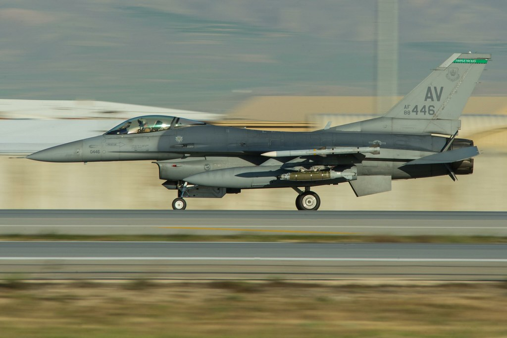 USAF – F-16 Fighting Falcons Land at Bagram