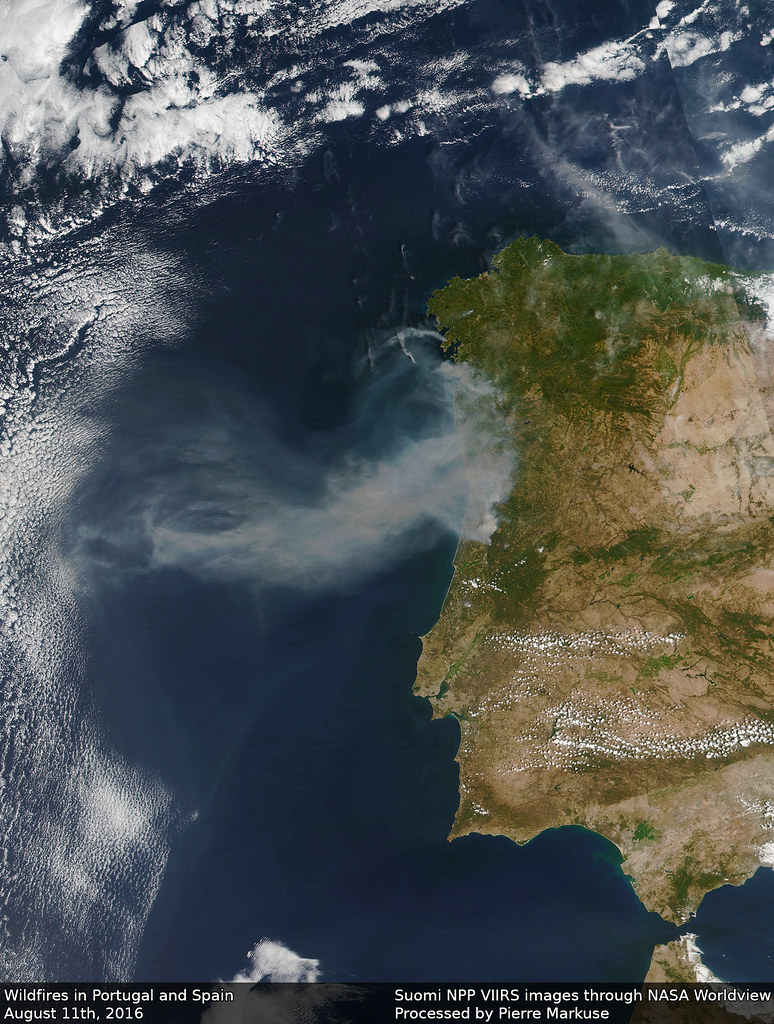 Earth from Space: Wildfires in Portugal and Spain