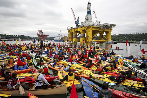 Artic Drilling kayaktivists vs Shell Polar Pioneer - Photo by Daniella Beccaria | by Backbone Campaign