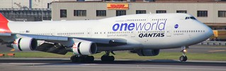 Qantas - One World - 747-400(ER) - VH-OEF - Sydney | by maxefct