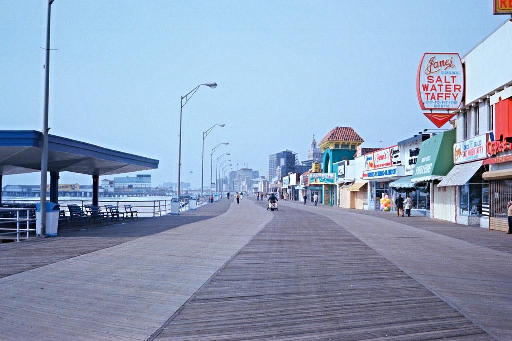 Boardwalk in Atlantic City - circa 1980