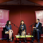 Winning Fiction in Translation   2016 Man Booker International Prize winners Han Kang (writer) and Deborah Smith (translator) join Man Booker Chair of Judges Boyd Tonkin to interrogate the winning novel © Helen Jones