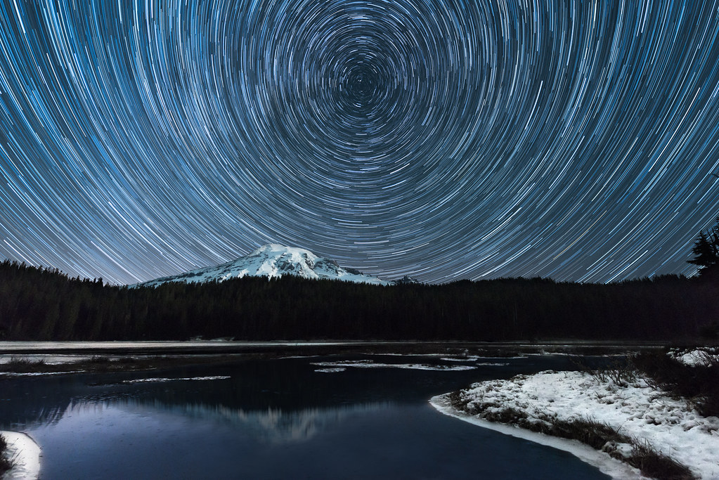 Starry Night at Reflection Lake (Updated)