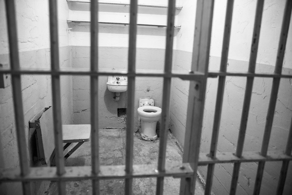 Jail cell on alcatraz with toliet and sink | m01229 | Flickr