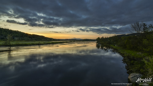 canada river dusk cape breton margaree
