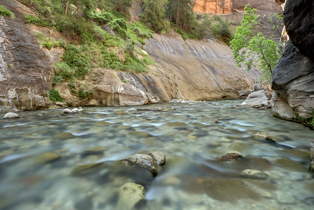 The Narrows, North Fork Virgin River, Zion National Park, Washington County, Utah 1