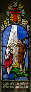 Stained glass window, St Peter's church, Rodmell, E.Sussex | by Jules & Jenny