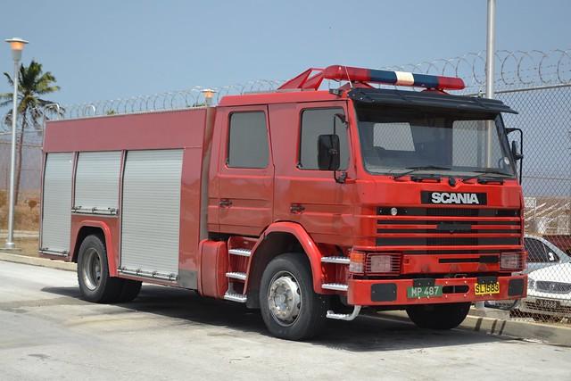 MP 487 Scania 93m 210 Angloco WrT Barbados Fire Service