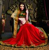 Red & Green Saree With The Beautiful Soft Net Pallu & Resham Embrodery Blouse by Sapna Kumari11