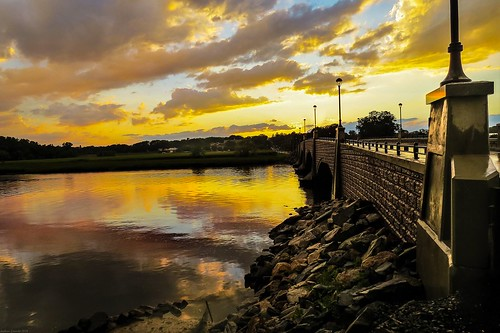 sunset andrewlincolnphotographer sky clouds reflection river