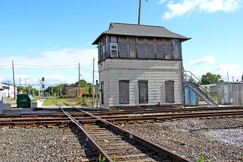 kalamazoomichigan railroadtracks interlockingtowers botower michigancentral michigan michiganrailroads