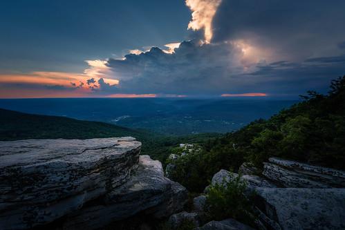 cragsmoorny shawangunkridge valley cliffs bearhillpreserve ulstercounty newyork sunset summer storm clouds hudsonvalley majestic magical
