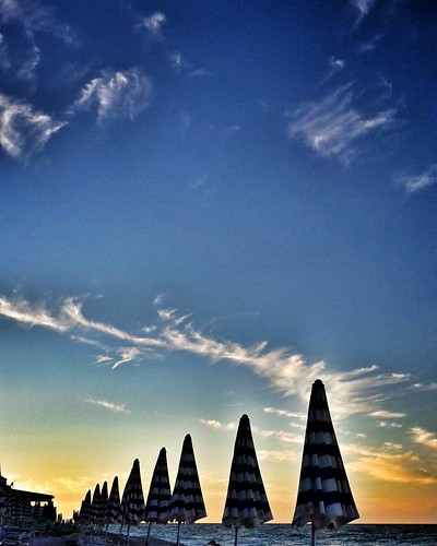 Sunset At The Beach   #summertime #sky #clouds #Summer #summer2016 #beach #sea #igers #igersitalia #Photography #photooftheday #picoftheday #blue #Sunset #life #Portonovo #conero #Italy #Travelgram   by Mario De Carli