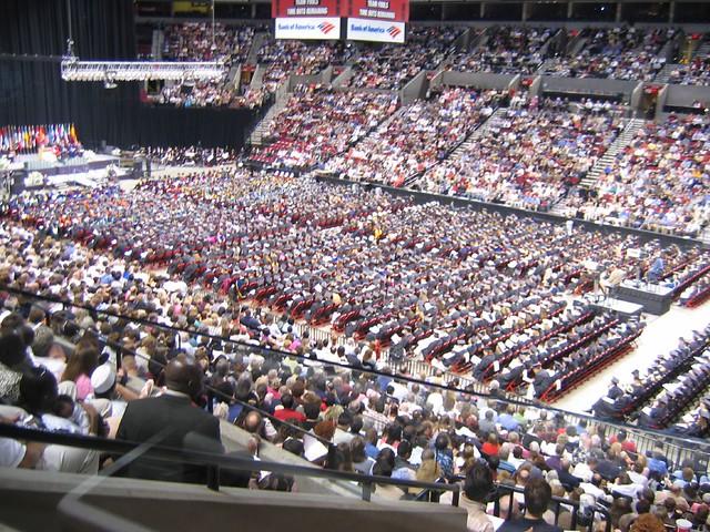 Graduation at the Rose Garden Arena