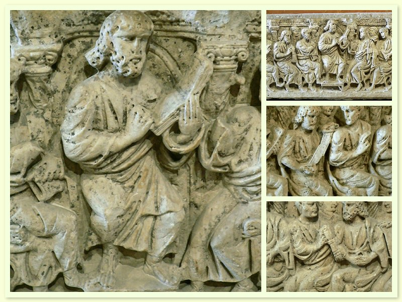 Sarcophage, Christ enseignant, Musée du Louvre