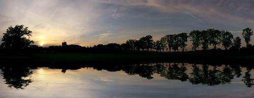 Sunset over Rednitz Valley by Dirk Paessler