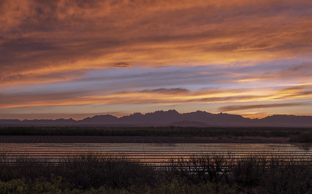 Sunrise over the Organ Mountains, New Mexico