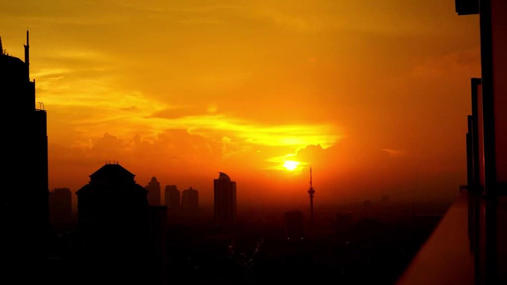 Sunset at Sudirman, Central Jakarta