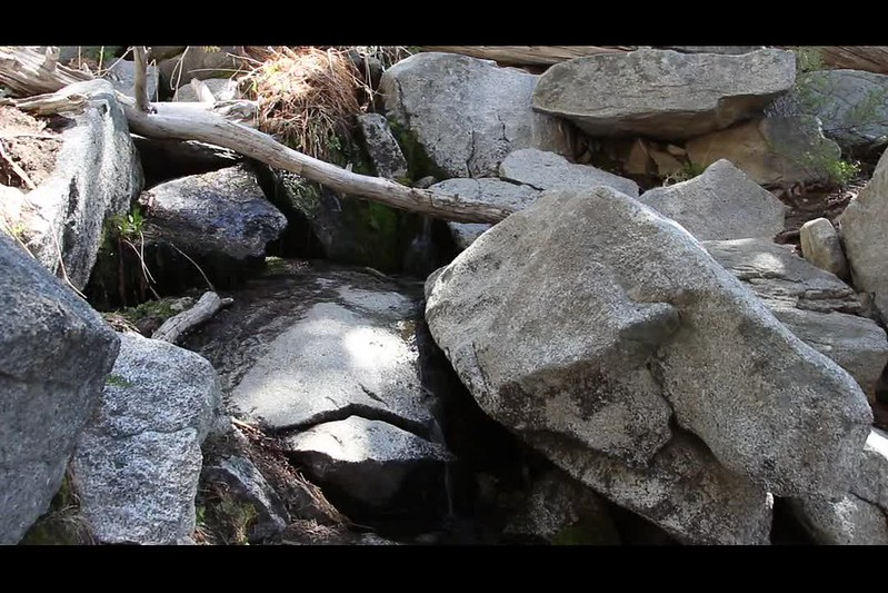 482 Video of the water flow at Bed Springs where it crosses the Deer Springs Trail
