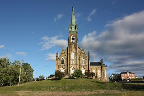 miramichi newbrunswick canada church basilica sky clouds
