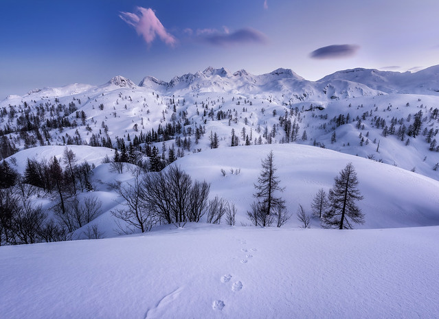 Winter evening at Komna