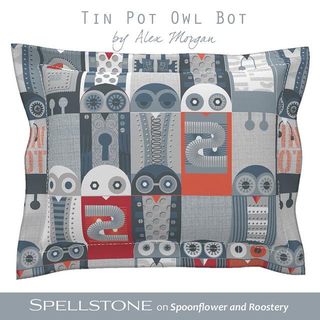 Tin Pot Owl Bot by Alex Morgan