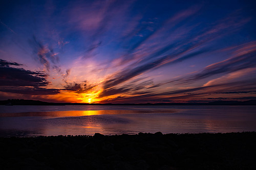pentaxkr scotland ayrshire northayrshire northayrshirecoastalpath firthofclyde sunset water