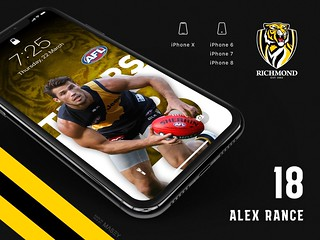 #18 Alex Rance (Richmond Tigers) iPhone Wallpapers | by Rob Masefield (masey.co)