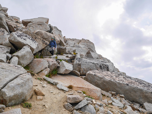 Class 2 scrambling down north side of Puppet | by snackronym