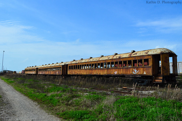 Abandoned Galveston Train Cars