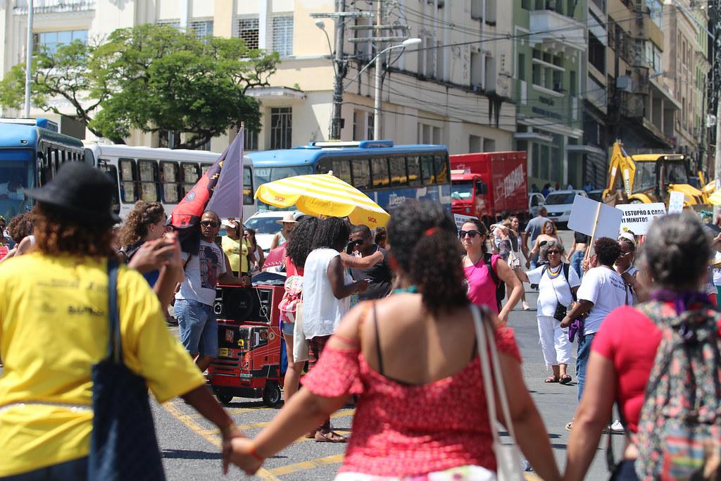 Marcha por Marielle Franco na Assembléia Mundial de Mulheres