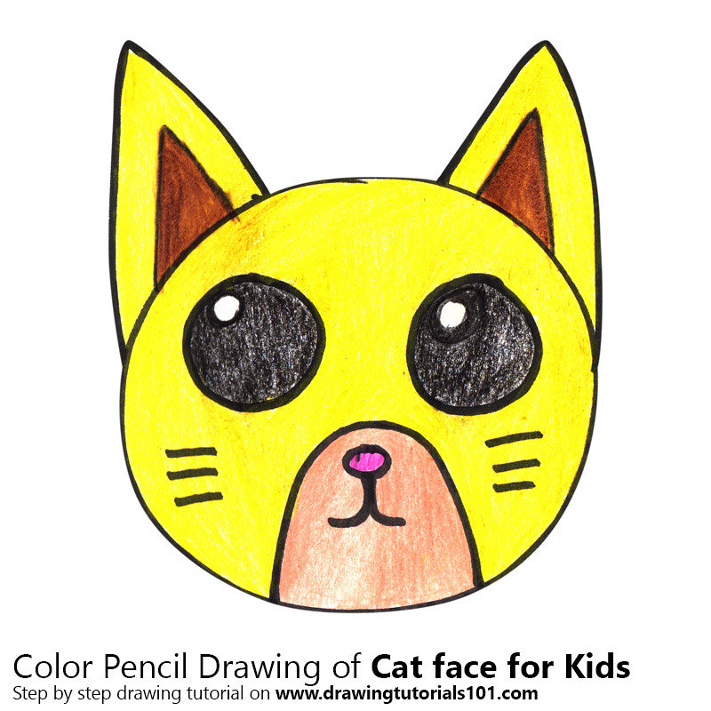 Cat Face For Kids Step By Step Tutorial On Bit Ly 2qhvx3a