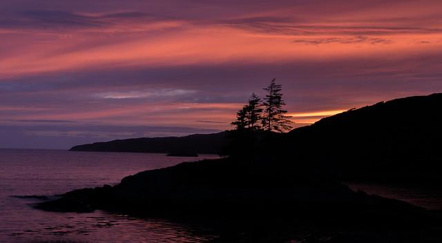 Sunset in Lochinver, Scottish Highlands