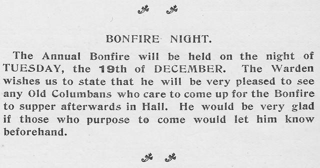 Bonfire Night, December 1911