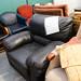 Black leatherette armchair E50 as is
