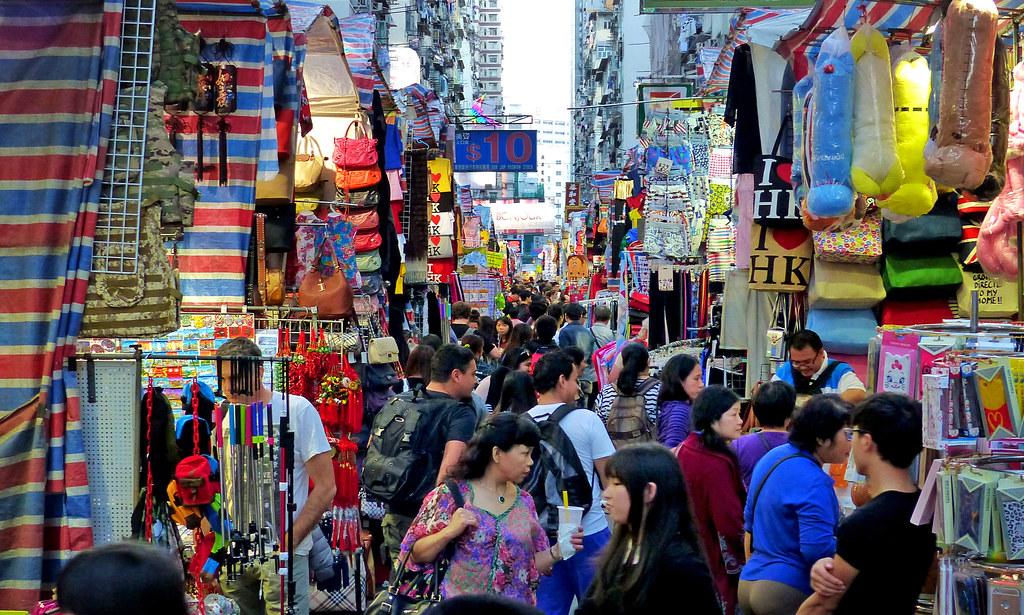 Hong Kong street market. | Mong Kok is a buzzing maze of nar… | Flickr