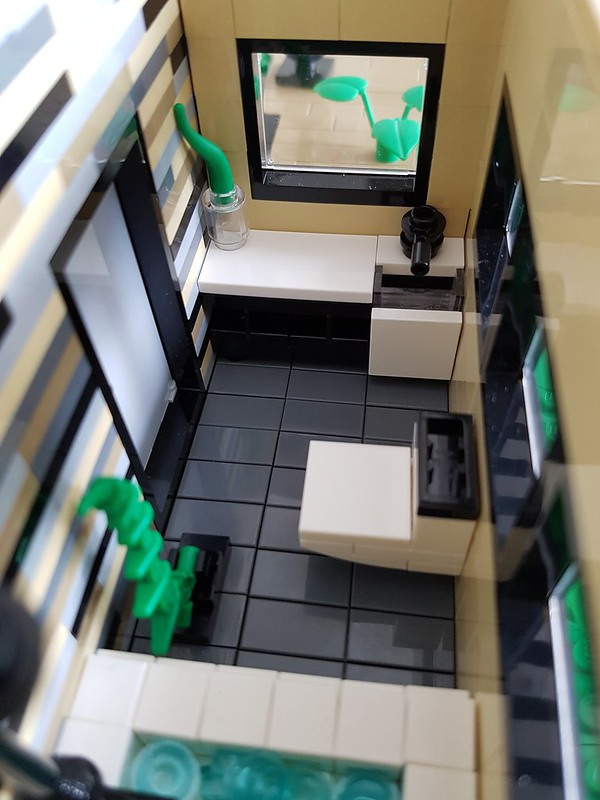 Vanilla House MOC. Bathroom interior.