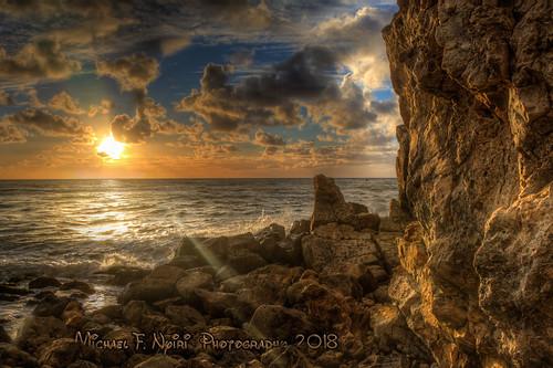 rockyshore rocks clouds sunset bluffcove palosverdespeninsulacalifornia southerncalifornia