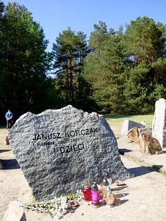 Treblinka - Extermination Camp - memorial to Janusz Korczak