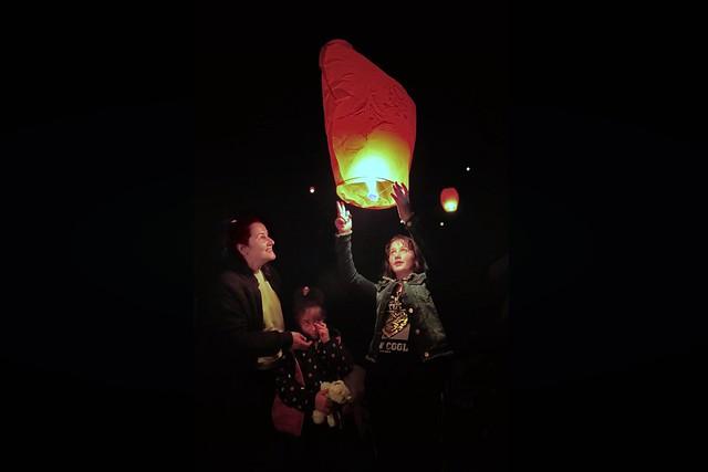 Zonguldak Kozlu ilçesinde dilek feneri.