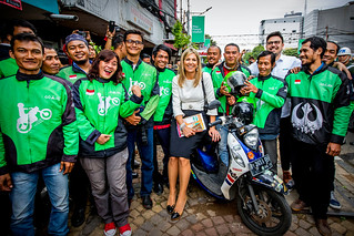 Special Advocate with Go-Jek drivers in Jakarta | by UN SG's Special Advocate for Inclusive Finance