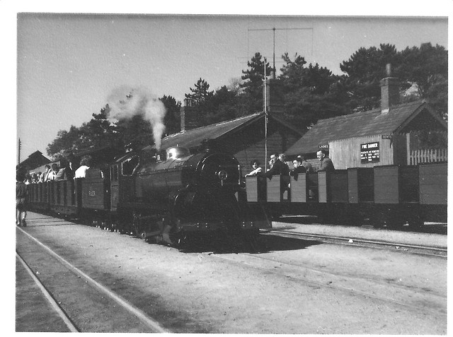 On the Ratty. [1] - 'River Mite' at Ravenglass. August 1959