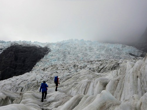 Franz Josef glacier stretching above us | by steve.upton