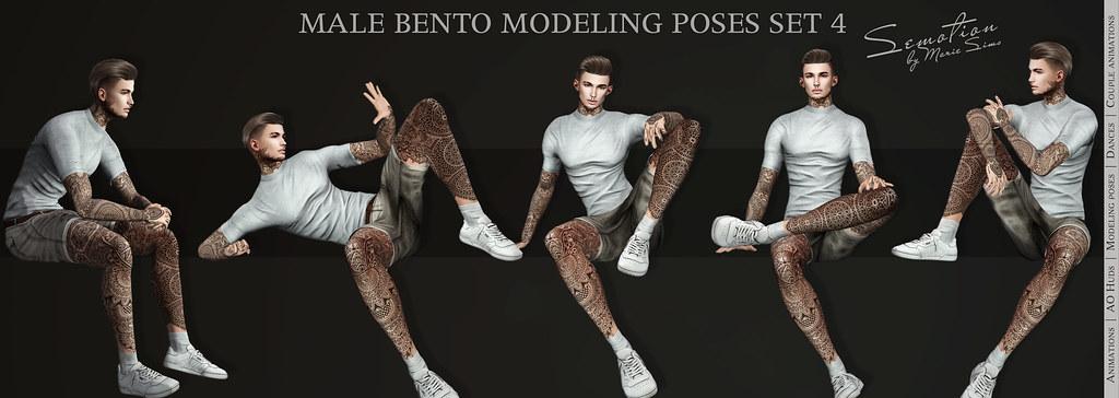 SEmotion Male Bento Modeling Poses Set 4 - 10 static poses