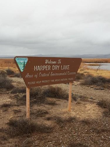 Sign at Harper Dry Lake