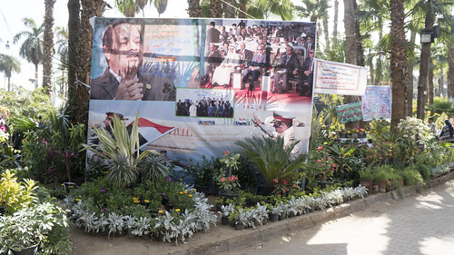 Elections campaigning at Egypt's Spring Flowers Show 2018 | by Kodak Agfa